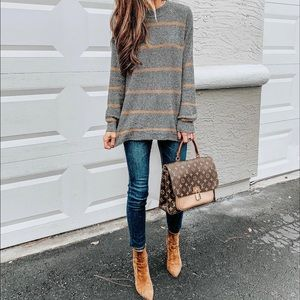AE Striped Jegging Pullover